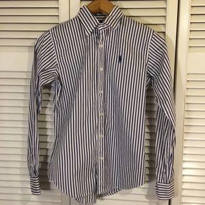 Ralph Lauren Sport Button Down Striped Shirt